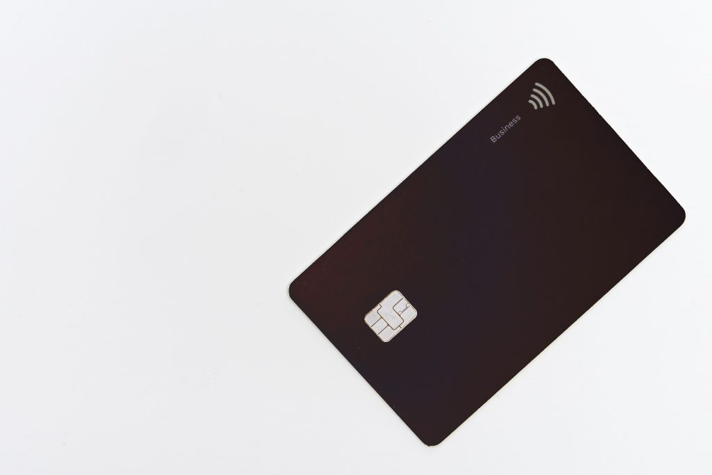 black payment card